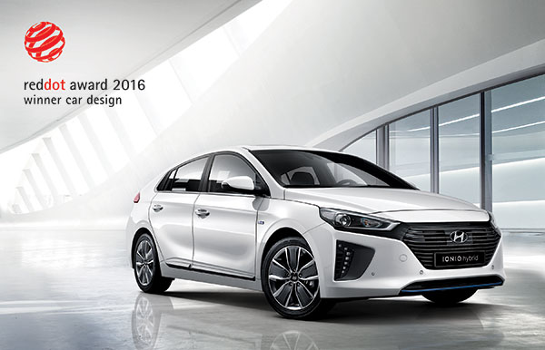 The Hyundai IONIQ model has become the sixth Hyundai to receive a Red Dot Design Award